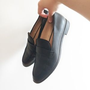 Franco Sarto Hudley Black Leather Loafers